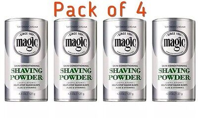 Magic Shave Skin Conditioning Shaving Powder 127g X 4 : UK Seller Free Delivery