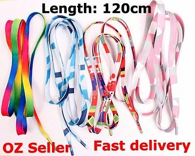 1 pair beautiful colorful shoes laces shoe lace rainbow flags free shipping