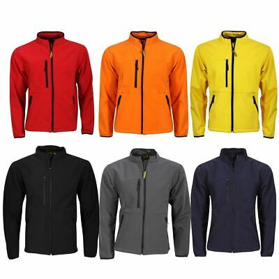 Mens Softshell Leisure Workwear Jacket-Sizes Xxs-5Xl Black Navy 6 Colours 8900M
