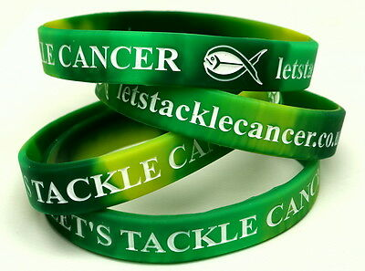 Let's Tackle Cancer Charity Wristbands (x2)  - Marie Curie Cancer Care