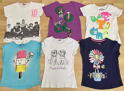 6 Girls T Shirts Size Age 5-6 Years Summer Next Cherokee George