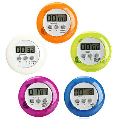 Round  Magnetic LCD Digital Kitchen Timer Count Up Down Egg Cooking Alarm
