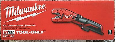 New Milwaukee M12 Li-Ion Cordless Copper Tubing Cutter 2471-20 **TOOL ONLY**