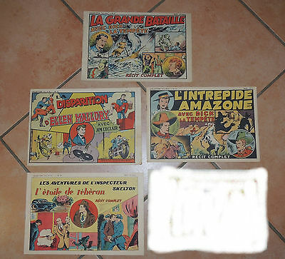 LOT 4 recits complets COLLECTION ELAN N°17 -  29 - 54 - 60 .1947
