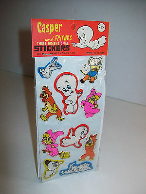 1979 Casper The Friendly Ghost And Friends 3-D Puffy Stickers Harvey Comics