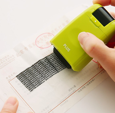 !!Protect ID Ink Stamp Identity Theft Protection Self Stamps Hide Black Document