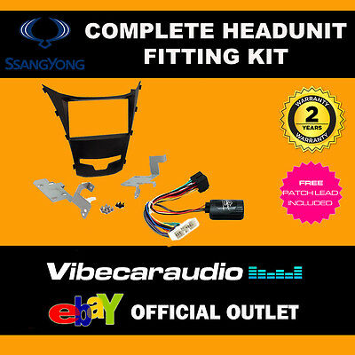 Connects2 CTKSY4  Ssangyong Korrando 2013 Complete Double Din Stereo Fitting Kit