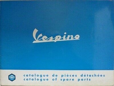 Vespa Vespino Moped Spare Parts Catalogue - June 1968
