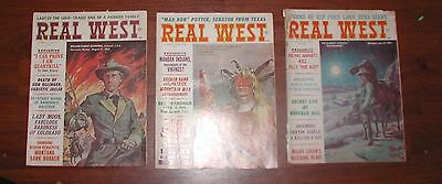 3 Real West Magazine Charlton May July September 1966 Billy The Kid Mandan Man