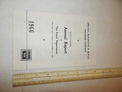 Chicago Burlington & Quincy Railroad Company 78Th Annual Report 1966 Route
