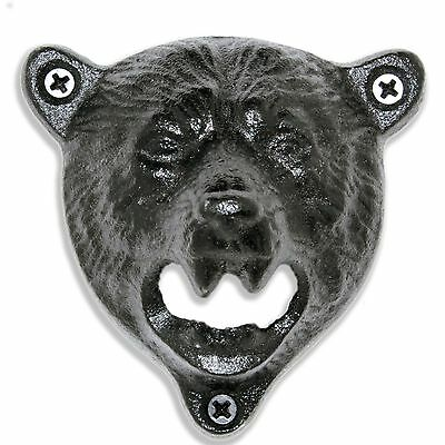 Grizzly Bear Cast Iron Wall Mounted Beer Bottle Opener | Indie Craft
