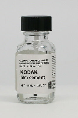 Kodak Film Cement 1/2 Oz. Bottle - New - Fresh