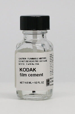 Kodak Film Splicing Cement 1/2 Oz. Bottle - New - Fresh