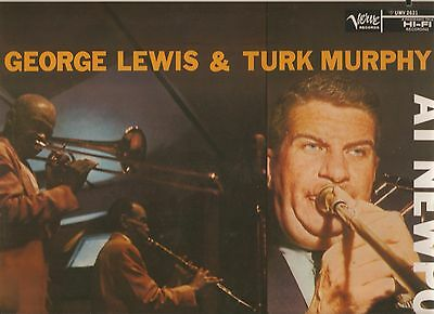 GEORGE LEWIS & TURK MURPHY - At Newport - MONO - MEGA RARITÄT - JAPAN PRESS. !!