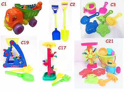 Childrens Kids Sand Bucket Water Mill Windmill Tools Set Beach Sandpit Toy Mould