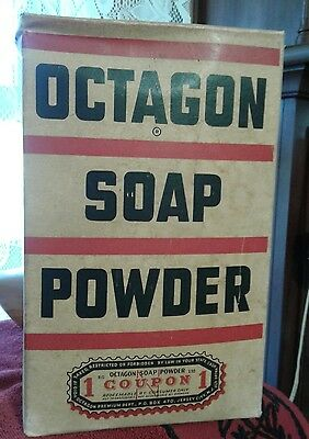 Vintage MOS Unopened Large Box of OCTAGON Soap Powder Old Store Stock