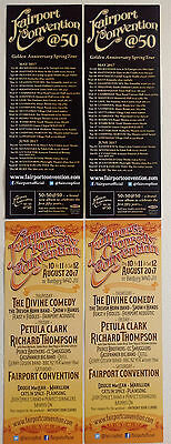 Fairport Convention Double Sided Flyers x 4 2017