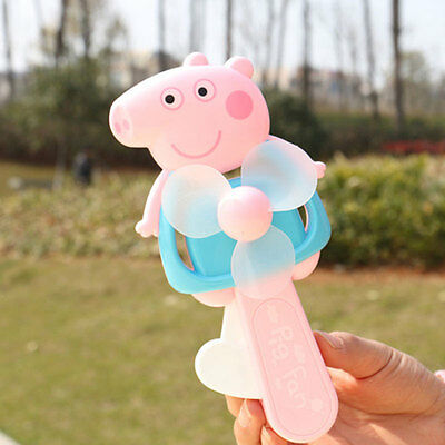 Children Mini Piggy Manual Hand Fan Summer Cool Handheld Toy For Students