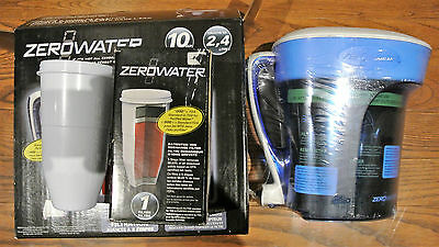 ZeroWater ZP-010 10-Cup Water Pitcher & Three Extra Filters (Four Total)