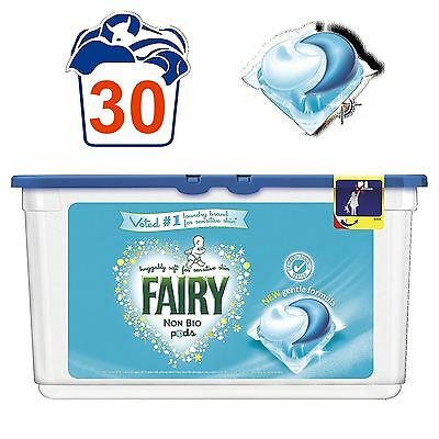 Fairy Non-Bio Pods Laundry Detergent Washing Capsules Sensitive Skin - 30 Washes