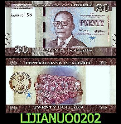 Liberia 20 Dollars 2016 P-33 Unc Banknote Currency Afrika