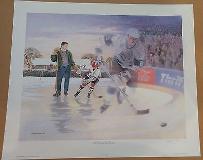 James Lumbers Lithograph A Boy And His Dream Gretzky Signed Limited Edition