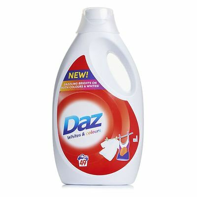 Daz Regular Washing Liquid Laundry Detergent for Whites and Colours - 49 Washes