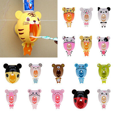 lovely Automatic Toothpaste Dispenser Device Easy Squeezer Wall Mount Kid Gift