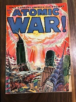 Atomic War #1  Magazine Nov 1952 Atomic Bomb Cover