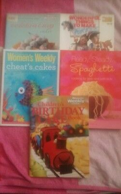 5x Australian Womens Weekly celebration cheats birthday cakes make 4 kids  Pb A4