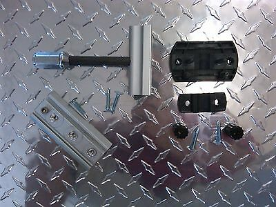 Trailer Spare Tire Mount & 4-Way Lug Wrench Mount Combo 4 Wheels Cargo Trailer