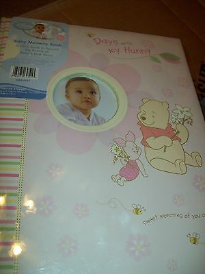 "Memory Book For Baby Keepsakes Winnie The Pooh Pink Color ""days With My Honey"""""