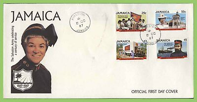 Jamaica 1987 Salvation Army set on First Day Cover