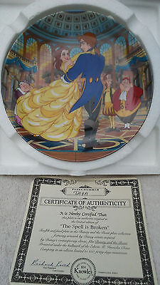 Disney Beauty & the Beast Spell is Broken COA 1993 Knowles Collector Plate #12