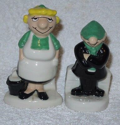Wade Andy Capp And Flo Salt And Pepper Pots  ( Daily Mirror Cartoon) Vgc