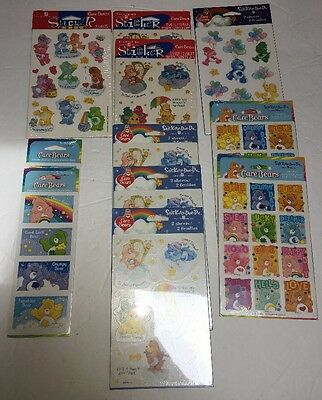 Lot 11 New Stickery Doo Da American Greetings Care Bears Stickers Packages