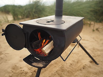 Outbacker® Portable Wood Burning Stove For Bell Tent Tipi- With Free Carry Bag.
