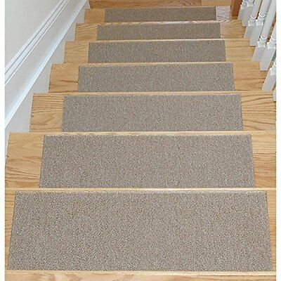 "7 Non Slip Carpet Pack Stair Treads Skid Resistant Rubber Rug Pad 8.5"" X 26.5"""