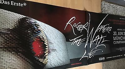 ROGER WATERS - THE WALL 2011  + orig.Concert Poster - Konzert Plakat 236 x 84 cm