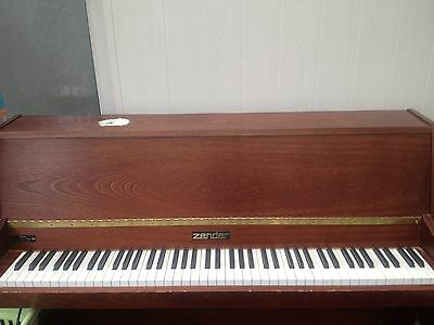 Zender Upright Piano In Used Condition