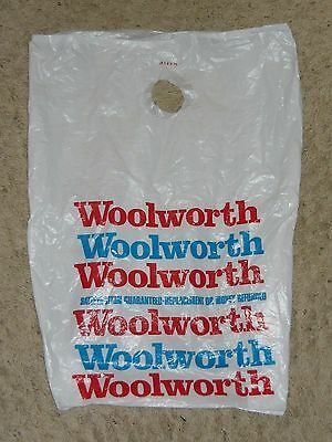 Vintage Woolworth Department Store Plastic Shopping Bag