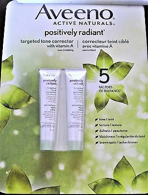 Lot of FOUR (4) Aveeno Targeted Tone Corrector Positively Radiant 1.1 fl oz 32ml