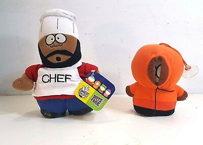 Two Charming Plush South Park Dolls That Feature Kenny & Chef