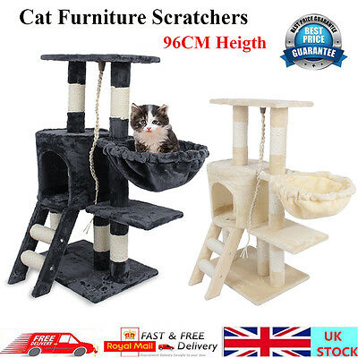 Cat Tree Pet Furniture Condo House Scratcher Kitten Bed Tower Hammock Perch Toy