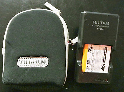 OEM Genuine Fujifilm BC-50A Battery Charger & NP-50A Battery & Case