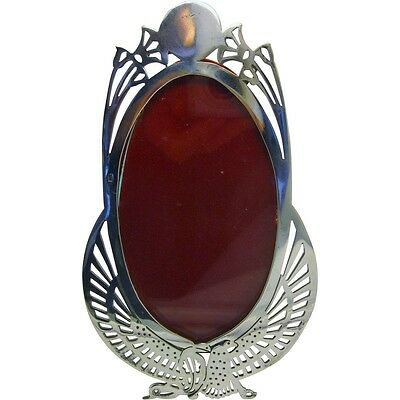 900 Silver Egyptian Picture Frame Egyptian Symbolism Lotus Flowers Sun Disk