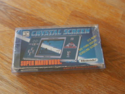 "Lcd game Nintendo Crystal screen "" Super mario bros "" game watch 1986"