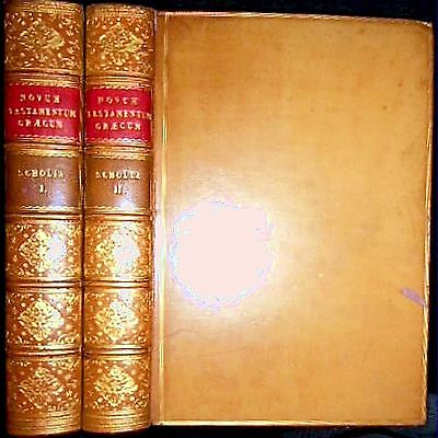 1848 Greek Commentary New Testament E. Grinfield 1St Edition 2Vls Bible Jesus $$