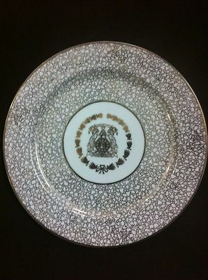 Antique Porcelain Armorial Plate Of Nawab Bhopal Royal Arms Crest 1910 -1930