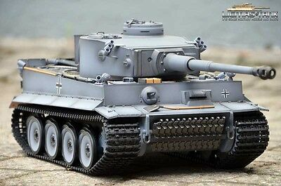 Rc Panzer Taigen Heng Long 1:16 2.4 Ghz Tiger 1 Dunkelgrau  Bb Schussfunktion